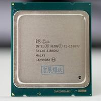 Procesador Intel Xeon E5 2680 V2 CPU 2 8 LGA 2011 SR1A6 diez núcleos servidor procesador e5 2680 V2 E5 2680V2|server processor|intel xeon processor|xeon processor -