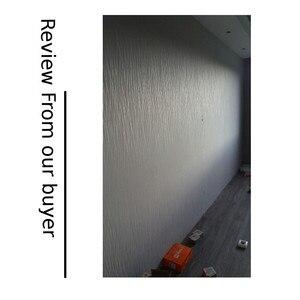 Image 5 - Papel pintado para decoración de habitación, rollo gris liso con rayas plateadas, textura de lujo, fondo moderno, sólido, de pared