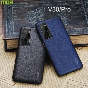 Para Huawei Honor V30 Pro Funda Mofi para Huawei Honor V30 Funda de cuero V30Pro Capa Coque Funda guante Protector azul negocios