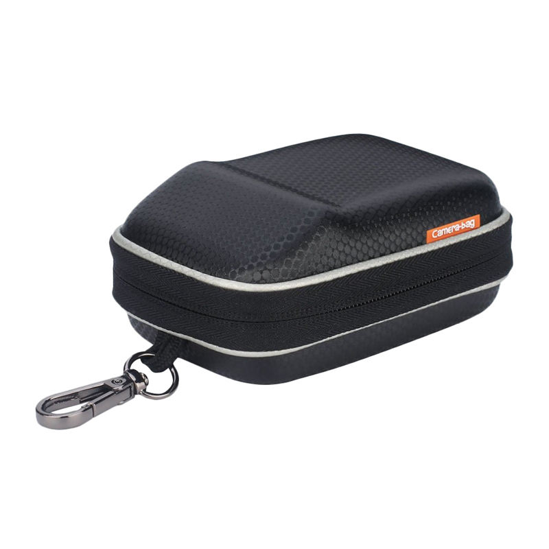 Digital Camera Bag Hard Case Protect Waist Packs For Nikon Coolpix W300 W100 Aw130 Aw120 S33 S32 L32 L31 Sony Rx100 M6 M5 Ii(Bla image