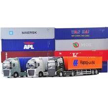 1:50 Масштаб сплав металлический контейнер грузовика-трейлера грузовой логистический автомобиль Maersk литья под давлением модель инженерного автомобиля Модель игрушки украшения
