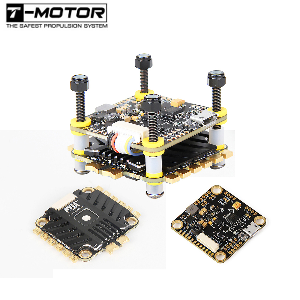 T-MOTOR Tmotor F4 F7 Flight Controller Combo Stack F45A V2 F55A PRO II 6S 4 In 1 ESC FPV Racing Drone Quadcopter Multirotor