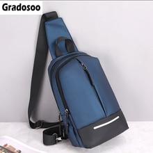 Gradosoo Oxford Male Chest Bag Waterproof Messenger Bag Man Shoulder Crossbody Bag For Men Bag Casual Travel Bag Male New HMB675 недорого