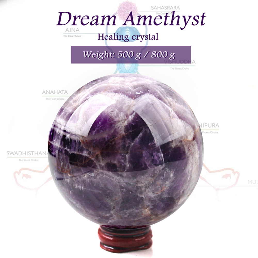 Natural  Beautiful Amethyst Ball Dreamy Quartz Ball Home Decoration Color For Healing Reiki Fengshui Energy Stone Mineral