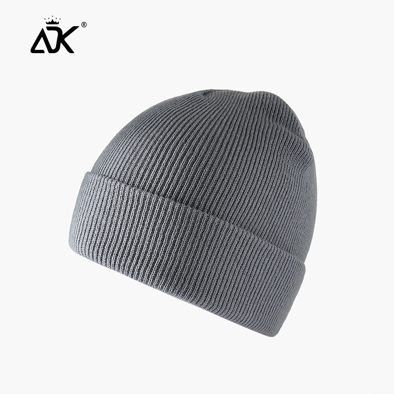 Winter Hats Short Cuffed Cap Warm All Match Bonnet For Woman Short Knitted Ribbed Beanie Casual Breathable Stretchy Cap 3