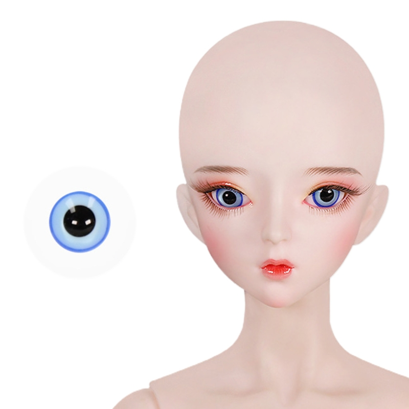 For Bjd Eyeball 14mm Glass Material Green Blue Eyes Suitable For 1/3 1/4 Doll Accessories 30