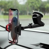 Soporte de teléfono móvil para coche, ventosa de rotación de 360 grados, para salpicadero o parabrisas, GPS, accesorios para automóviles