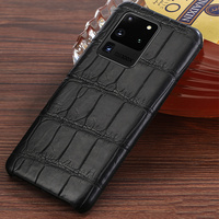 Luxury Original Crocodile Leather case For Samsung Galaxy s20 ultra plus s20+ A50 a30s a70 Genuine leather cover Note 10 plus
