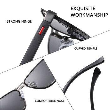 AOFLY Brand 2020 Fashion Sunglasses Men Polarized Square Metal Frame Male Sun Glasses Driving Fishing Eyewear zonnebril heren 8