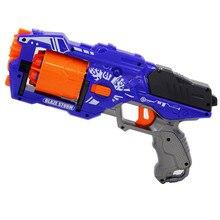 Новое поступление вращающаяся бочка ручной мягкий пулевидный пистолет костюм для Nerf пули игрушечный пистолет Дротика бластер игрушки для детей