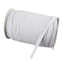 DIY 70Yard Length 7mmWidth Braided Elastic Band Cord Knit Band for Sewing Bedspread Mouth Mask Crafts(China)