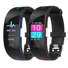 Body Temperature Measurement ECG PPG Smart Bracelet Heart Rate Blood Pressure Oxygen Smart Band Waterproof Sport Fitness Bands
