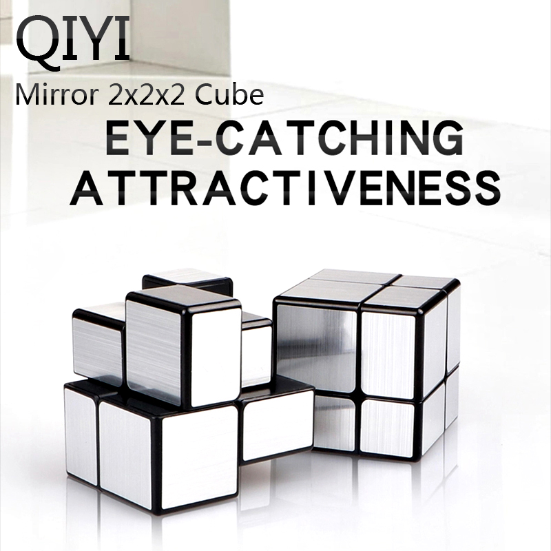 QIYI Mirror Cube 2x2x2 Magic Puzzle Cube Silver Gold Stickers Professional Speed Cubes Toys For Children Mirror Blocks