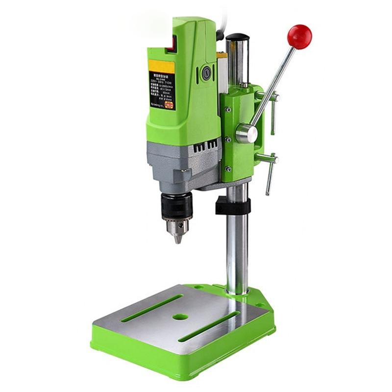 High-precision portable drilling machine 710W high-power small bench drill precision high-speed mini portable bench drill