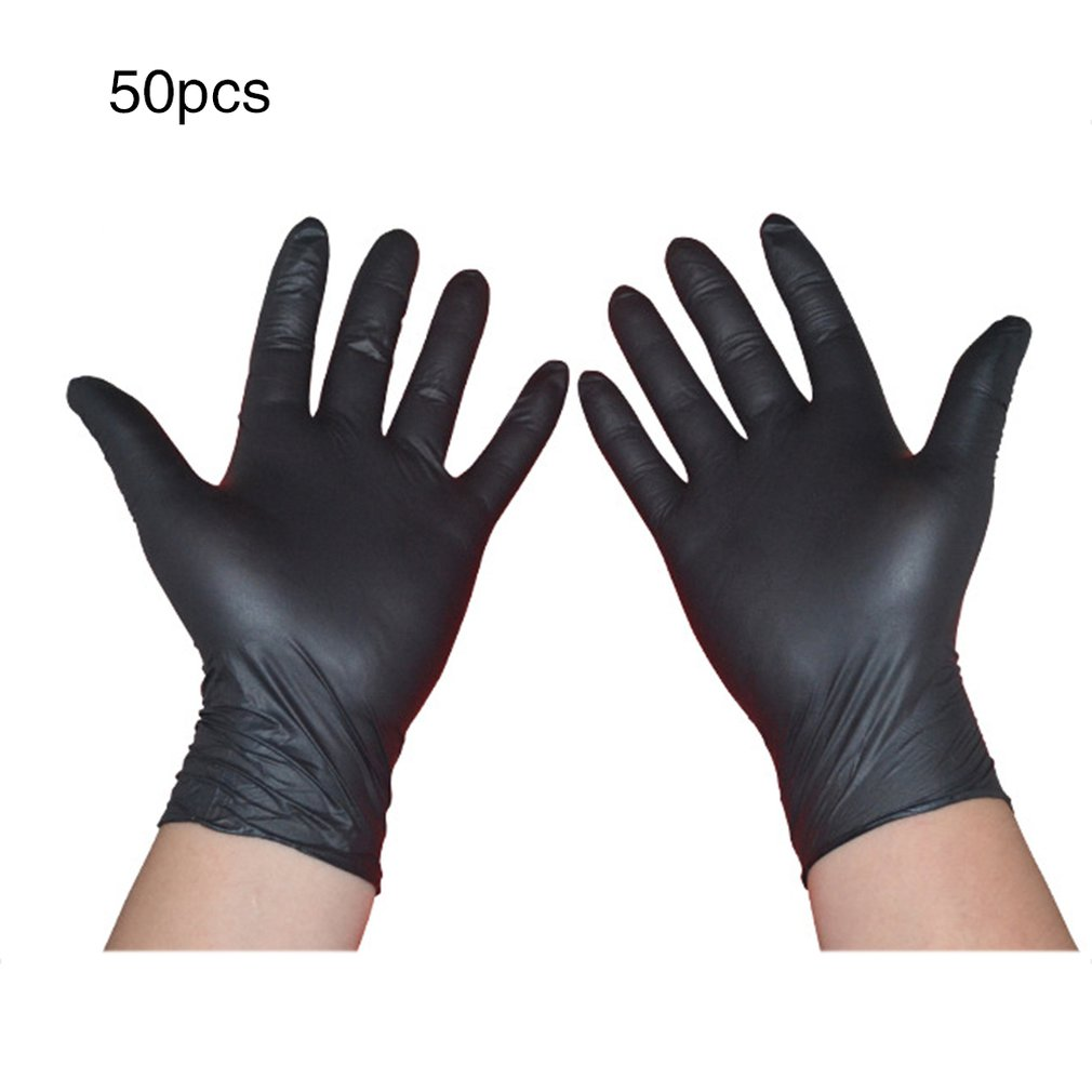 50 Pairs Disposable Latex Gloves Electronic Laboratory Gloves Disposable Working Gloves Reusable Gloves