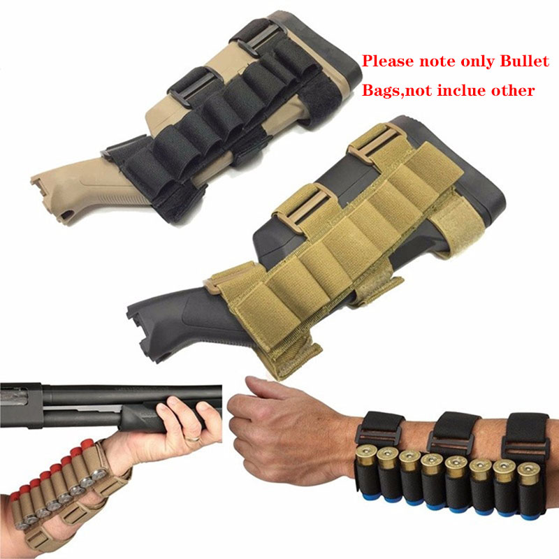 5 or 8 Round Shotgun Ammo Carrier Buttstock Bullet Holder Shell Tactical Hunting
