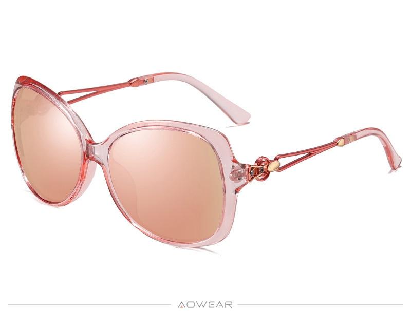 Gradient Womens Brand Lady Luxury Sun Female 2020 Polarized Eyewear Shades AOWEAR Glasses For Sunglasses Retro Oversized Women