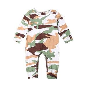 Citgeett jesień Xmas renifer noworodek chłopiec dziewczyna Camo ubrania kombinezon Romper kamuflaż strój świąteczny