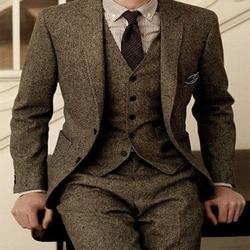 Trouwpak 3 pics formele kostuum homme heren jurken tailored modellen terno masculino marraige pakken voor mannen silim traje hombre