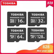 Cartão de memória toshiba micro sd m203 classe 10, 16gb 32gb 64gb 128gb cartão de memória c10 mini sd cartão sdhc sdxc UHS-I tf para smartphone/tv