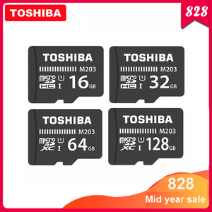 TOSHIBA Micro SD Card M203 Class 10 16GB 32GB 64GB 128GB Memory Card C10 Mini SD Card SDHC SDXC UHS-I TF Card For Smartphone/TV