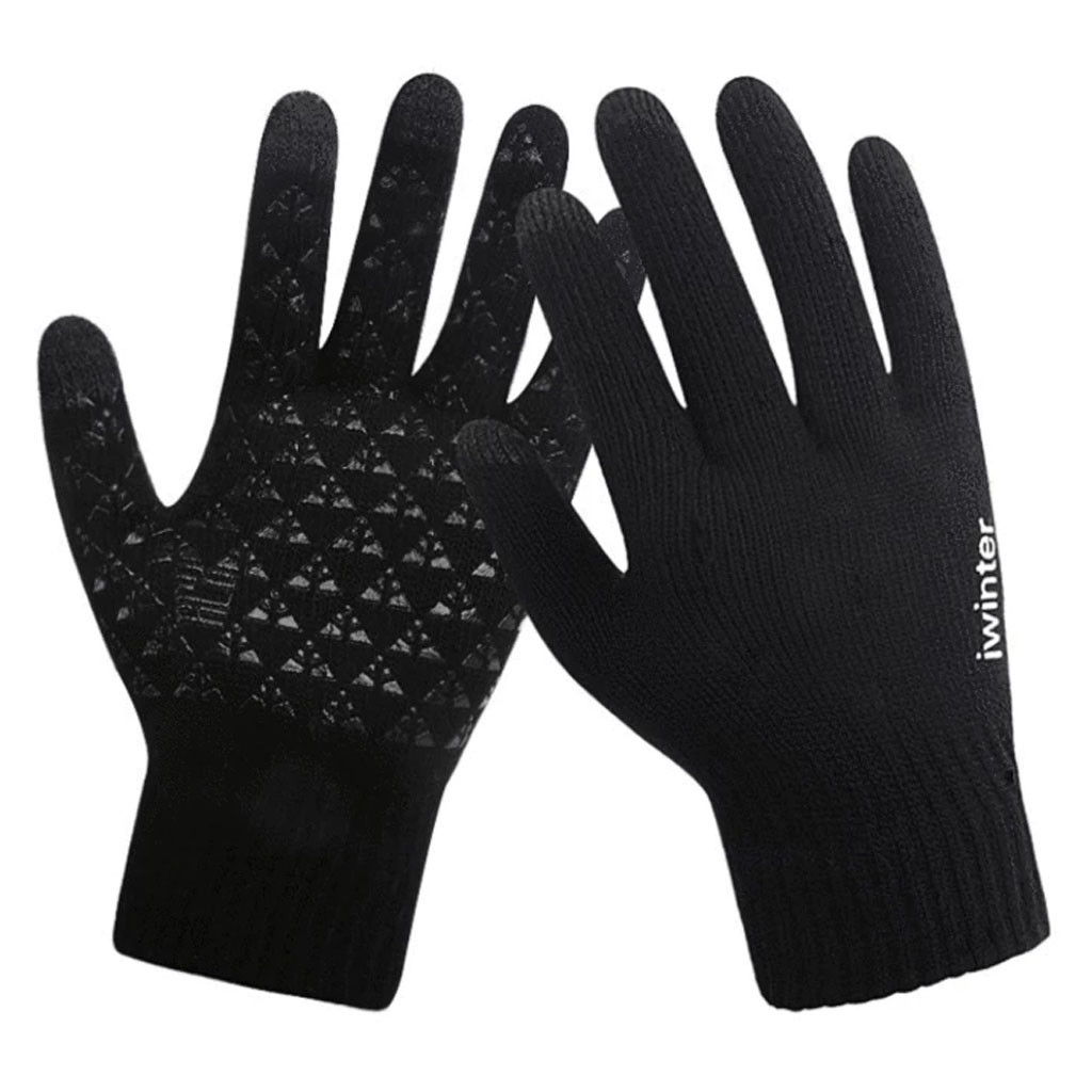 2020 Winter Gloves Women And Men Girls Knitted Men Sports Winter Outdoor Waterproof Extra-Insulated Touchscreen Gloves Screen#11