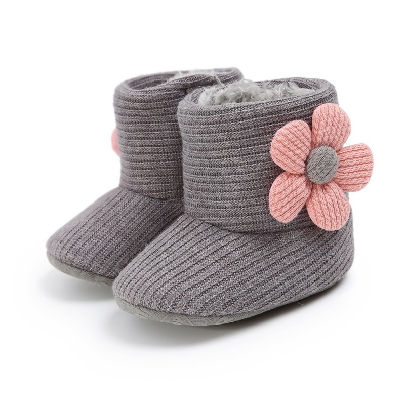 2020 Newborn Toddler Warm Boots Winter First Walkers Baby Girls Boys Shoes Soft Sole Fur Snow Prewalker Booties For 0-18M