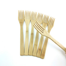 Organic Wood Cutlery Natural Fork Spoon Natural Coconut Palm Coconut Forks for Coconut shell bowl Bamboo Fork Cutlery