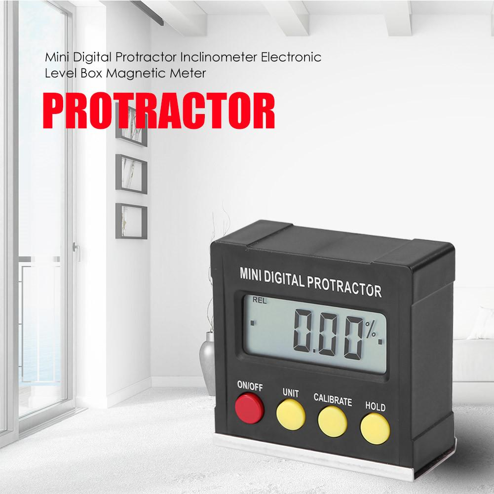 Horizontal Angle Meter Digital Protractor Inclinometer Electronic Level Box Magnetic Base Measuring Tools
