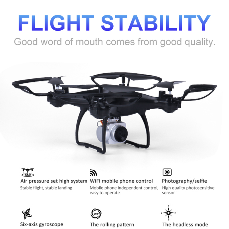 Drone Camera Racing Drone Many Batteries Three Speed Control Quadcopter Fpv Wifi Real-time Transmission Drone Racing VS E68 Toys