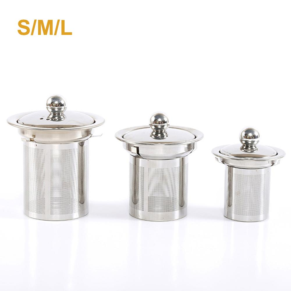 Reusable Tea Strainer Infuser Stainless Steel Mesh Filter Drinkware Teaware Tea Pot Accessories For Brewing Steeping Loose Tea