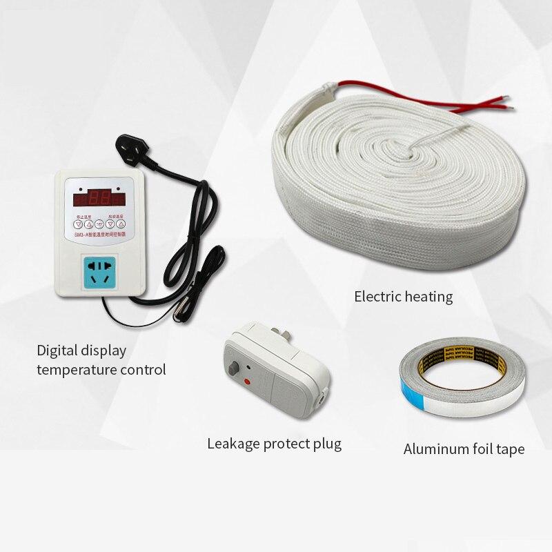 Незамерзающий Мороз нагревательный кабель для защиты от замерзания для водопровода/крыши 220V 30 мм регулирование Электрический нагреватель ...