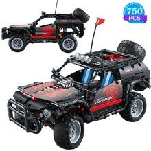 High-tech Diy pojazd terenowy klocki Rcing montaż samochodów Model cegieł zabawki edukacja świąteczny prezent urodzinowy dla dzieci
