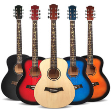 High Quality 36 inch Basswood Guitar Acoustic Guitar Suitable for Beginners  Students Matte No-Logo Music Instruments