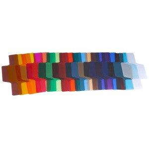Image 4 - 20 צבעים/חבילה פלאש Speedlite צבע מסנני כרטיסי עבור Canon עבור ניקון מצלמה צילום סינון ג לי פלאש מבזק