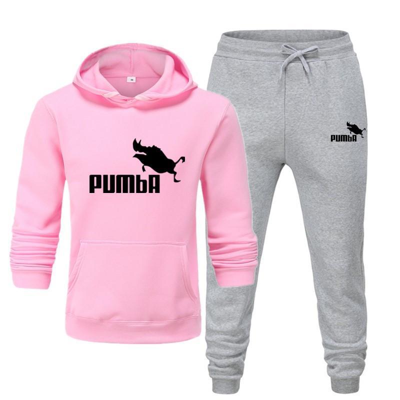 New Pumba Two Pieces Hoodie Batman Hooded Men Casual Cotton Fall / Winter Warm Sweatshirts Men's Casual Tracksuit Costume S-XXXL 5