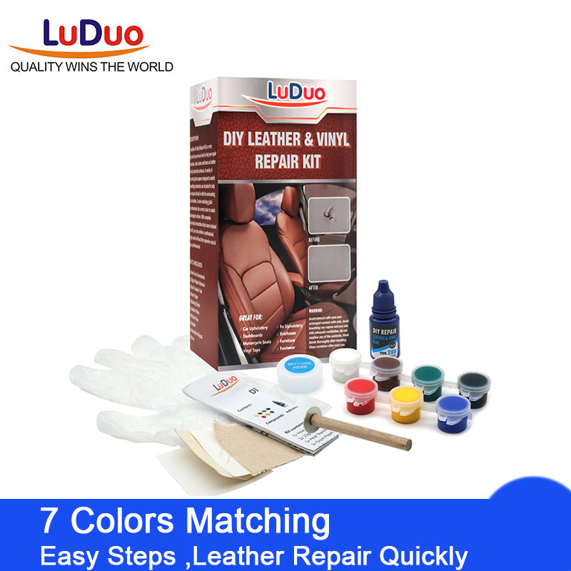 LuDuo Liquid Leather Vinyl Repair Kit Restorer Furniture Car Seats Sofa Jacket Purse Belt Shoes Cleaner Skin Repair Paint Care