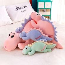 цена 45-65cm new cute dinosaur plush toy cartoon saber tooth dragon cute child filled toy doll child boy birthday gift 3 color WJ145 онлайн в 2017 году