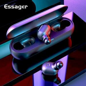 Image 1 - Essager T1 Tws Bluetooth 5.0 Oortelefoon Mini True Draadloze Oordopjes Hoofdtelefoon Met Mic Sport Draadloze Handsfree Headset Voor Telefoon