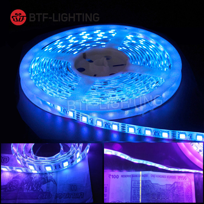 DC12V Sterilize UV Led Strip Tape 3528/5050 395-405nm Disinfect Ultraviolet Ray Light Flexible Purple Lighting Lamp IP30 IP65