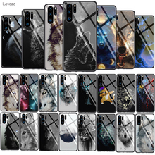 Lavaza angry Animal wolf Face Pattern Tempered Glass Soft Case for Huawei Honor 8x 9 P Smart Mate 20