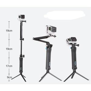 3 Way Grip Waterproof Monopod Selfie Stick For Gopro Hero 5 6 4 Black Session SJ4000 for Xiaomi Yi 4K Sports Camera Tripod Stand(China)