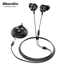 Bluedio Li Pro wired earphone 7.1 virtual sound card HIFI stereo headset built in microphone magnetic headset for phone PC