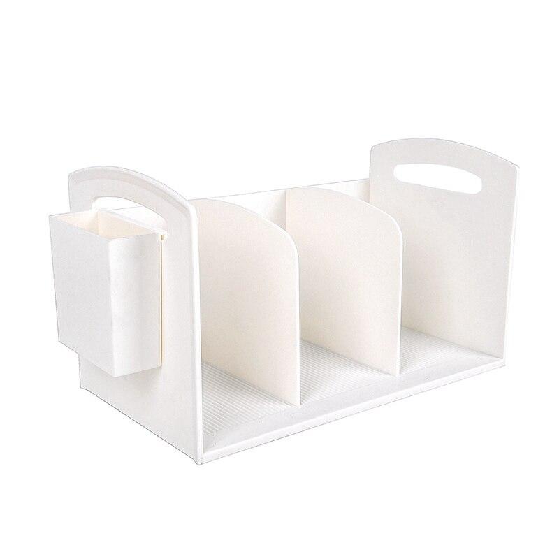 Plastic Book Stand Holder Office Stationery Pen Holder Desk Book Organizer File Storage Rack