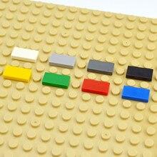 DIY yapı taşları şekil tuğla seramik karo 1x2 eğitici yaratıcı boyutu MOC tuğla pürüzsüz düz fayans oyuncaklar çocuk