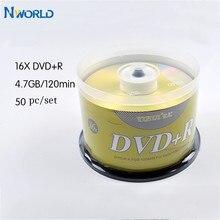 Бесплатная доставка, 50 шт./лот, DVD-диски, пустые DVD-диски + R CD-диски, 4,7 ГБ, 16X, Bluray, запись одного раза, хранение данных, пустые DVD-диски, записывае...