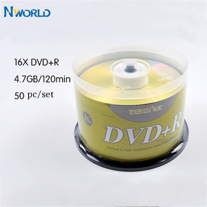 Freeship 50/lot DVD Drives Blank DVD+R CD Disk 4.7GB 16X Bluray Write Once Data Storage Empty DVD Discs Recordable Media Compact