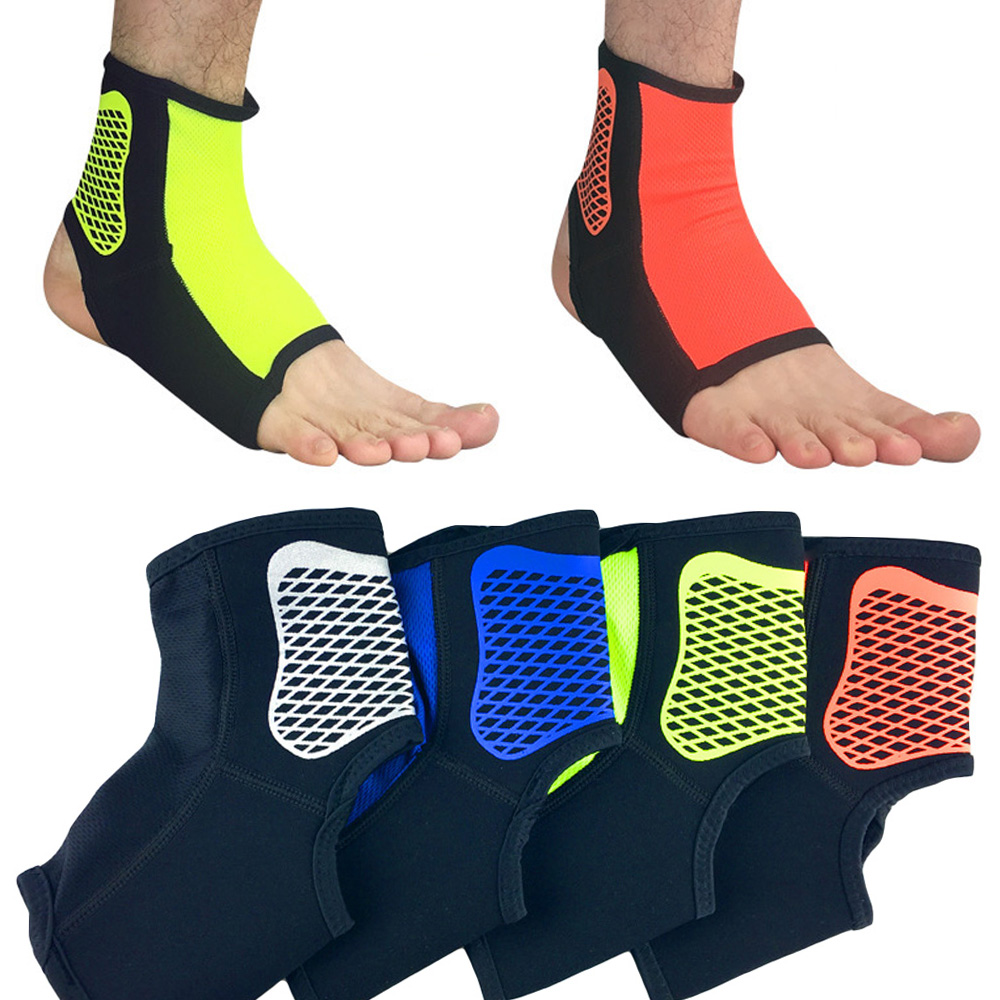 Protection Foot Brace Guard Grid Pattern Support Sports Ankle Protective Gear