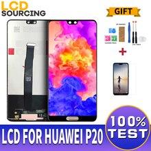 5.8 אינץ LCD תצוגה עבור Huawei P20 LCD EML AL00 מגע מסך Digitizer עצרת עבור Huawei P20 תצוגת להחליף