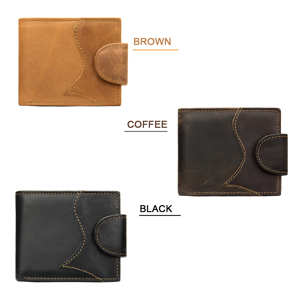 Man Wallet Genuine Leather Casual Wallet Men Card Man Purse Wallets Slim Vintage Wallets For Men Purse Cartera Hombre De Cuero Men Men's Bags Men's Wallets